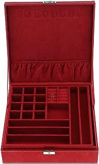 MagiDeal 1 Pcs Velvet Jewelry Box For Jewelry Display, Jewelry Storage Box - Red