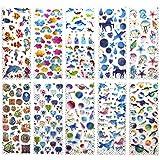 SAVITA 400+ 3D Adesivi Puffy Stickers per Ragazze Bambini Bullet Journal Scrapbook conchiglie / cuore / fiori /caramelle / nuvole / piccione / bottiglie di drift / unicorno castello / balena(10 fogli)