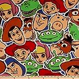 Disney Camelot Toy Story Sticker Party Fleece, Multi Yard