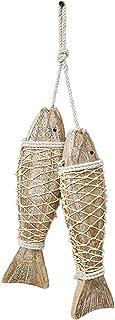 D-Fokes Hanging Vintage Wooden Fish Wall Art Decor Handcrafts Mediterranean Style Home..