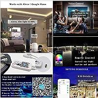 LEDストリップライトP65防水5m10m 15m Bluetooth 12V 5050SMDダイオードテープRGBLEDリボンフレキシブルライト、IR WifiBluetoothコントロール10M
