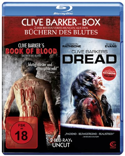 Clive Barker Box UNCUT - 2 Horror-Highlights in einer Box: Book of Blood + Dread [2 Blu-rays]