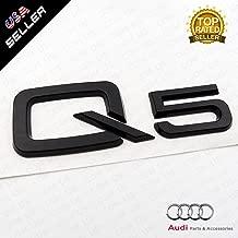 US85 OEM ABS Nameplate Q5 Gloss Black Emblem 3D Trunk Logo Badge Decoration
