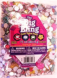 Darice Big Bling Flowers and Round Gem Value Pack Rhinestones, Multicolor