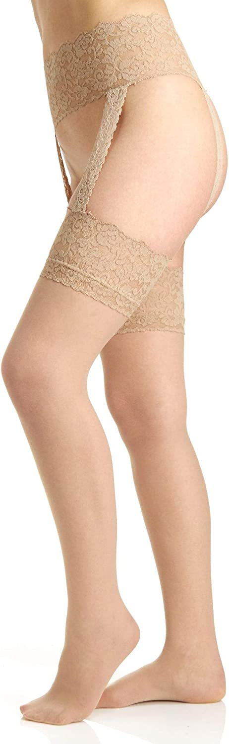 Berkshire Women's Sexyhose Lace Garter with Stocking - Sandalfoot