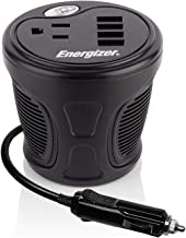 Energizer 150 Watt Cup Inverter - 4 USB Ports, 2.4A Each, 48 Watt, 12V DC Cigarette Lighter to 120V AC, Power Laptop, Notebook and Portable Electronics Plus USB Ports Compatible with iPad and More