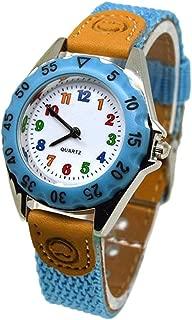 Loosnow Cute Boys Girls Quartz Watch Kids Children's Fabric Strap Student Time Clock Wristwatch Gifts