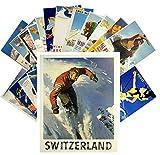 24 Postkarten Ski Winter Sport Vintage Travel Poster