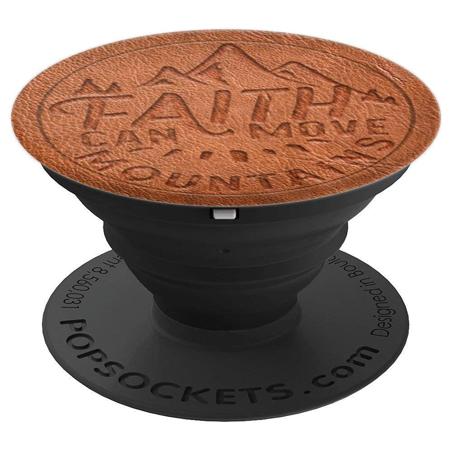 Faith Can Move Mountains Matthew 17:20 Christian Bible Verse - PopSockets Grip and Stand for Phones and Tablets