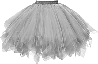 Musever 1950s Vintage Ballet Bubble Skirt Tulle Petticoat Puffy Tutu