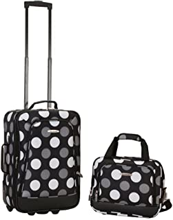 Rockland 2 PC NEW BLK DOT LUGGAGE SET