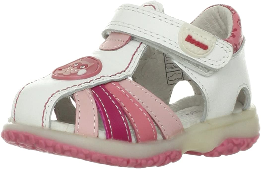 Beeko Carly Sandal (Toddler),White,19 EU(4-4.5 M US Toddler)