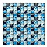 Gwolf Mosaico de Pegatinas de Azulejos 3D, 30 Piezas de Pegatinas de Azulejos de Pared de Mosaico,...