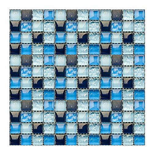 Gwolf Mosaico de Pegatinas de Azulejos 3D, 30 Piezas de Pegatinas de Azulejos de Pared de Mosaico, película de Azulejos de baño, Azulejos autoadhesivos de Cocina, Adhesivos de Azulejos de Mosaico