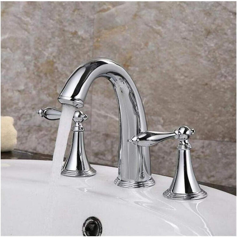 Kitchen Bath Basin Sink Bathroom Taps 3Pcs Basin Faucet Bathroom Basin Mixer Taps Ctzl4342