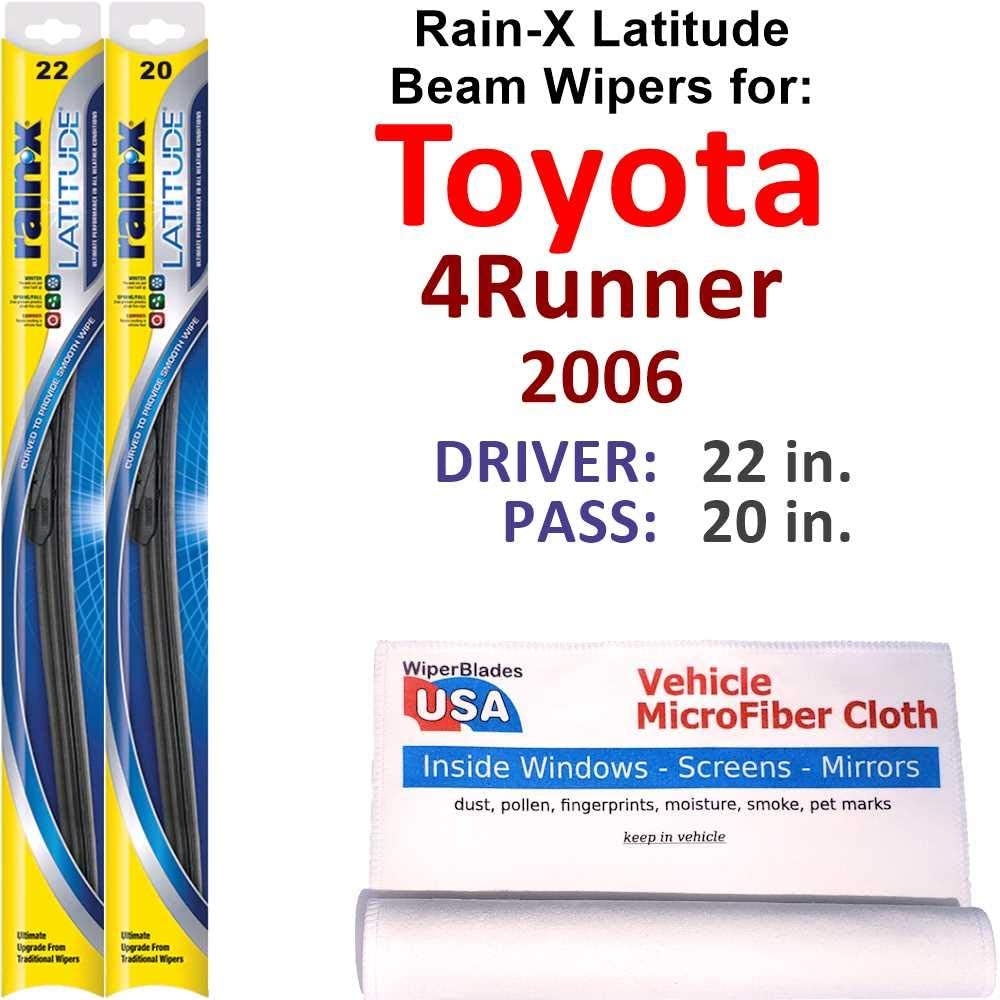 Special price for a limited time Rain-X Latitude Beam Some reservation Wiper Blades for Toyota Set Ra 2006 4Runner