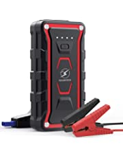 Flylinktech ジャンプスターター エンジンスターター 12V車専用バッテリー充電器 20000mAh 1500Aピーク電流 ポータブル電源(すべてのガソリン車・7.0L以下のディーゼル車に対応) モバイルバッテリー スマホ/カメラ/タブレット/kindleなどへ急速充電 LED緊急ライト搭載