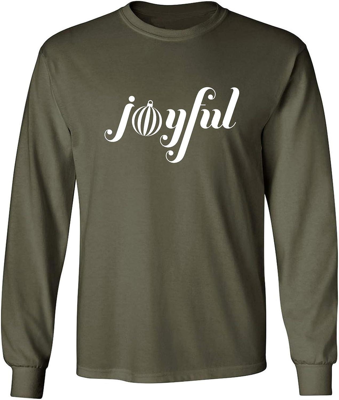 Joyful Adult Long Sleeve T in Miltary Green - XXXXX-Large