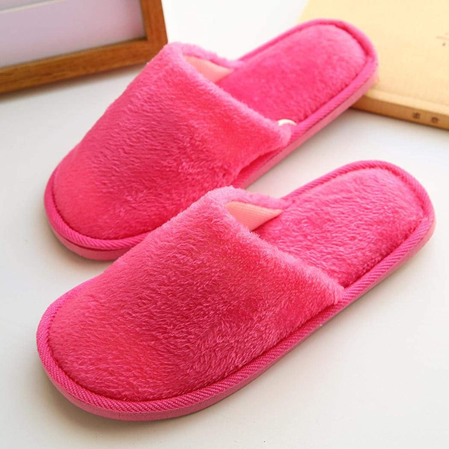 ThinIce Unisex Solid Pattern Thicken Comfortable Warm Slippers Winter shoes Slippers