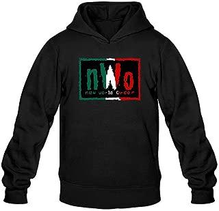 Men's NWO New World Order Logo Hooded Sweatshirt XXL Dark Grey