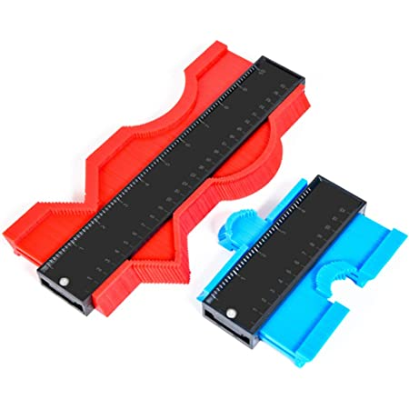 Plastic Contour Gauge Tool Kits Wanna Shape Contour Gauge Duplicator 5 inch and 10 inch Marking Gauge Woodworking Measuring Angle Finder Tool Instant Template for Copying Angles and Curves