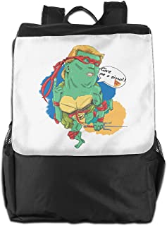 XIVEIER Personalized Give Me A Pizza Turtles President Heros Fashion Backpack For Mans