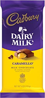 CARAMELLO Chocolate Candy Bar, Milk Chocolate Filled with Caramel, 4 Ounce Package (Pack of 14)