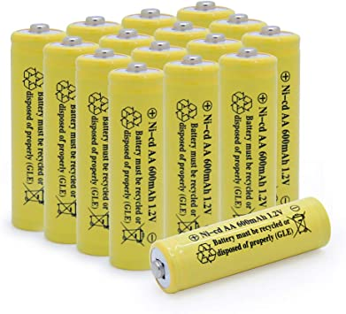 Remotes BAOBIAN 1.2v AAA 600mAh NICD Rechargeable Battery for Outdoor Solar Lights,Garden Lights Yellow 12 PCS Mice