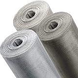 ONPIRA Fliegennetz Meterware in Eisen Verzinkt, Aluminium, Edelstahl und in den Breiten 0,8m, 1m, 1,2m zum Auswählen (Edelstahl, Breite: 80cm)