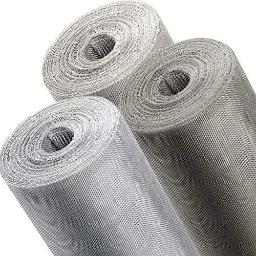 ONPIRA Fliegennetz Meterware in Eisen Verzinkt, Aluminium, Edelstahl und in den Breiten 0,8m, 1m, 1,2m zum Auswählen (Aluminium, Breite: 120cm)