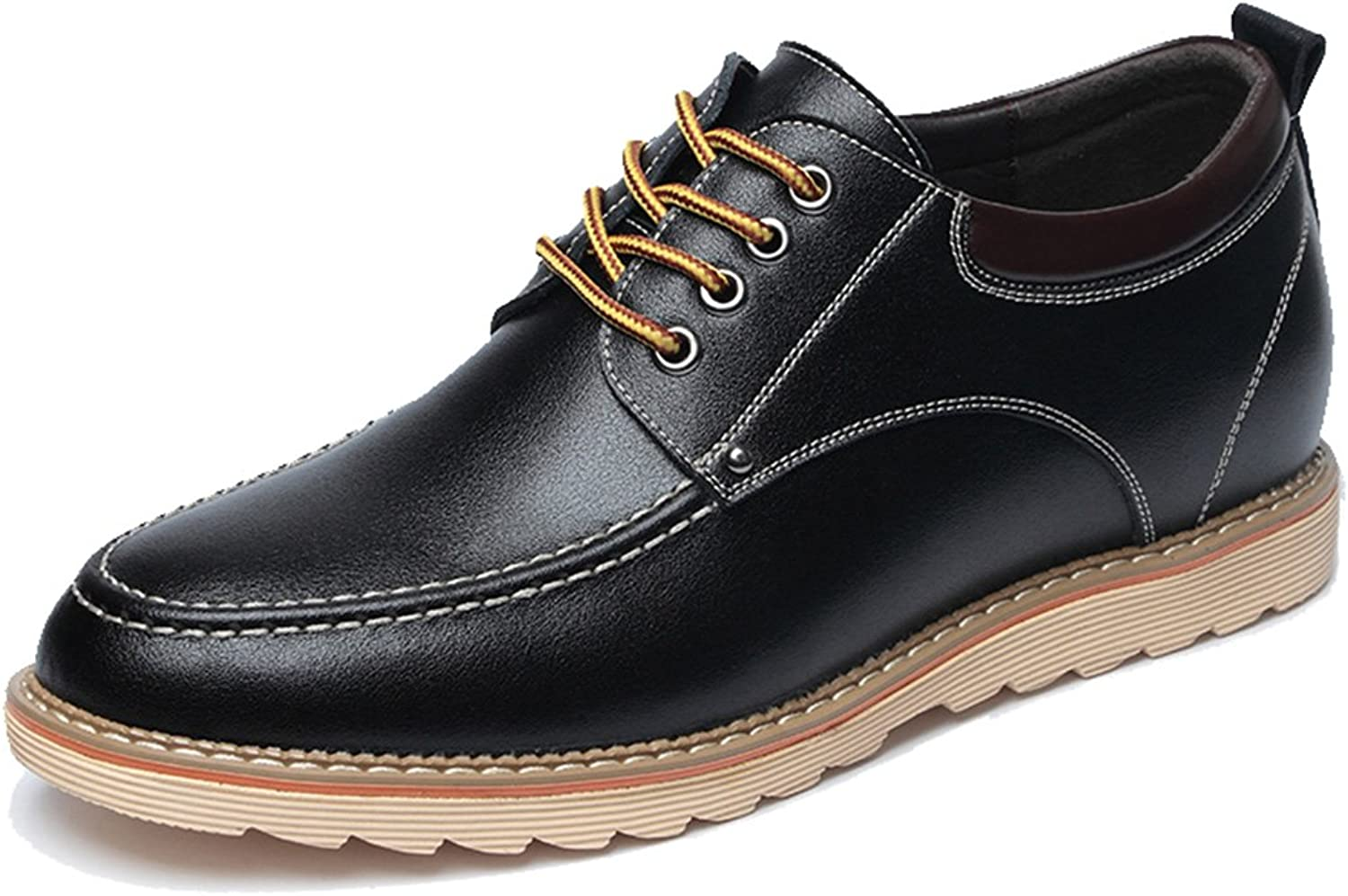 Seaoeey Men's Business Casual shoes Increased Leather shoes Sport Oxford Work Walking