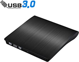 External CD Drive, ACETEND USB 3.0 External DVD CD Drive, Burner High Speed Data Transfer USB DVD Player for Laptop Notebook PC Desktops Support Windows/Vista/7/8.1/10, Mac OSX and Linux OS (Black)