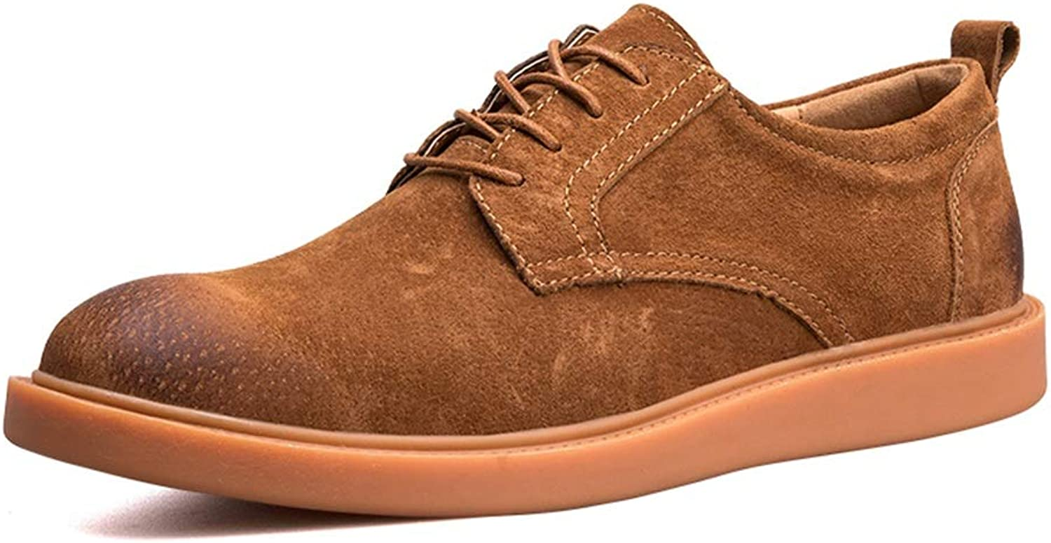 Men's Leather shoes Oxford Casual Comfortable and Simple Outsole Round Toe Formal shoes Cricket shoes