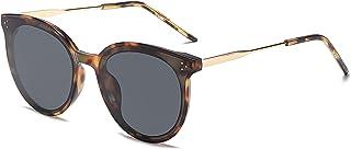 Retro Round Sunglasses for Women Oversized Mirrored...