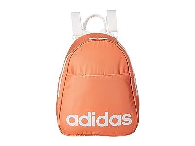 adidas Core Mini Backpack (Semi Coral/White/Black) Backpack Bags