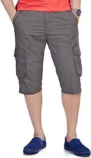 0-Degree Men's Regular Fit Three Quarter Shorts