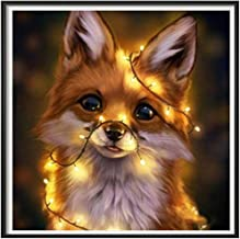 HCYdarker 5D DIY Full Drill Diamond Painting Kits for Adults, Personalized Customization Paint by Number Embroidery Cross Stitch Kit for Kids, Home Art Wall Decors. (Shining Fox, 13.78x13.78 in)