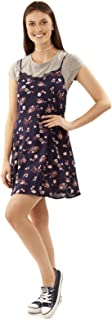 Women's Slip Dress with Tee and Choker Set