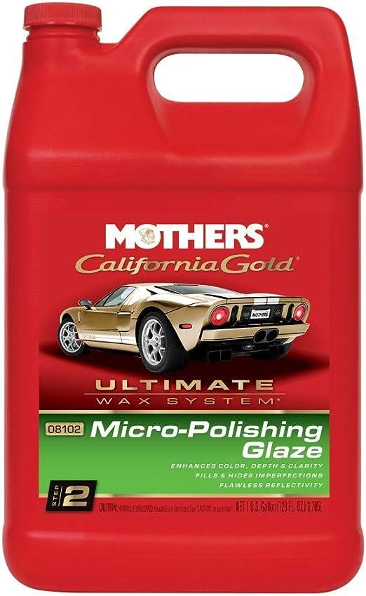 Mothers 08102 California Gold Micro Polishing Glaze Ultimate Wax System Step 2 1 Gallon Automotive Amazon Com