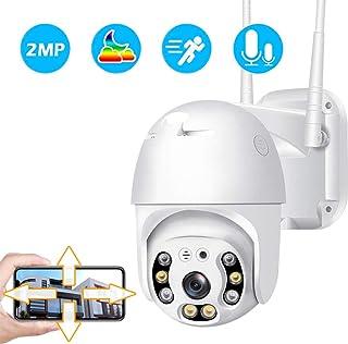 Cámara de Vigilancia Exterior Camara IP WiFi 1080p con IR LED Motion Detection 2-Way Audio Visión Nocturna Impermeable IP66 Cámara de Seguridad para Casa Garden Garaje