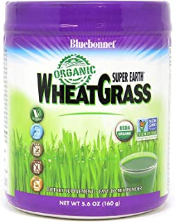 Bluebonnet Nutrition Super Earth Organic Wheatgrass, Green Powder Superfood, 5.6 Ounce