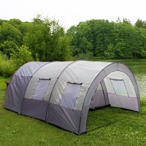 TECTAKE Camping Tent Tunnel with Foyer 4-6 man persons