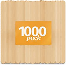 Wooden Craft Sticks by Aevia - DisposableIce Cream Popsicle Sticks - 100% Natural Food Grade and Eco-Friendly (4.5