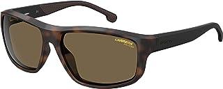 نظارات شمسية مستطيلة كاريرا CA8038/S للرجال+مجموعة مجانية للعناية بالنظارات
