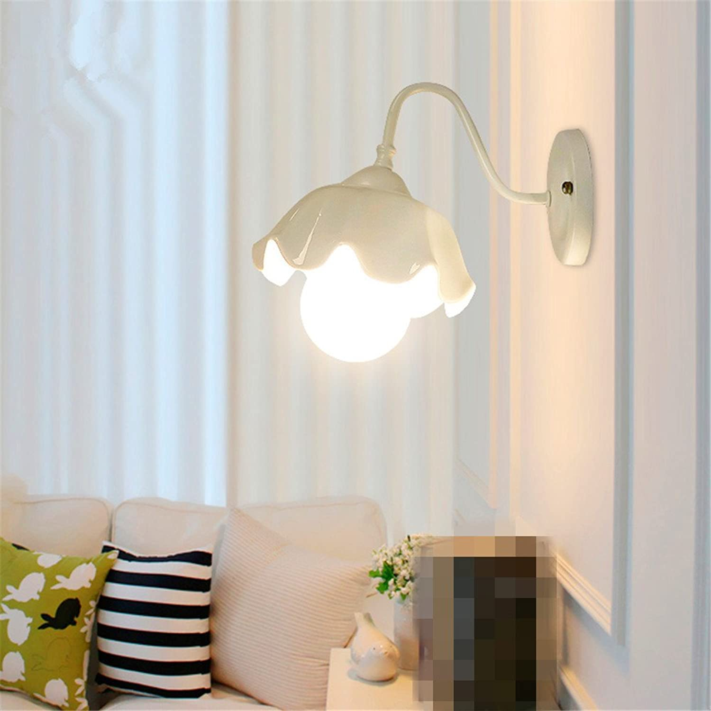 Modern LED Wandleuchte Keramische Wandlampe des Gartenschlafzimmer-Nachttisch-Persnlichkeitsrestaurants Vintage Retro Café Loft Bar Flurlampe, Wandlampe Upaus Aluminium für Flur Korridor.