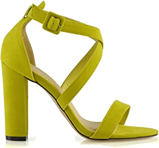 404e6879c67cc Amazon.com: Lime Green Heel Sandals