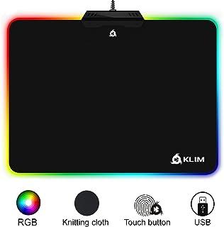 KLIM™ RGB Alfombrilla de Ratón Chroma – Material de Alta Precisión – Efectos de Luces - Múltiples Modos - Gaming - para Jugadores [ Nueva 2020 Versión ]