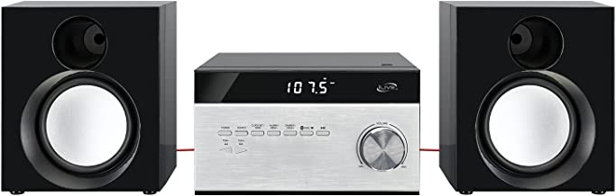 iLive Wireless Home Stereo System, with CD Player and AM/FM Radio, Includes Remote Control (iHB227B),Black/Silver