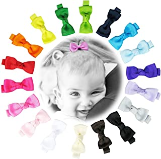 "Baby Hair Clips, Toddler Hair Clips-Hipgirl 18pc 2"" Mini Bow Tie Bows for Girls-No.."