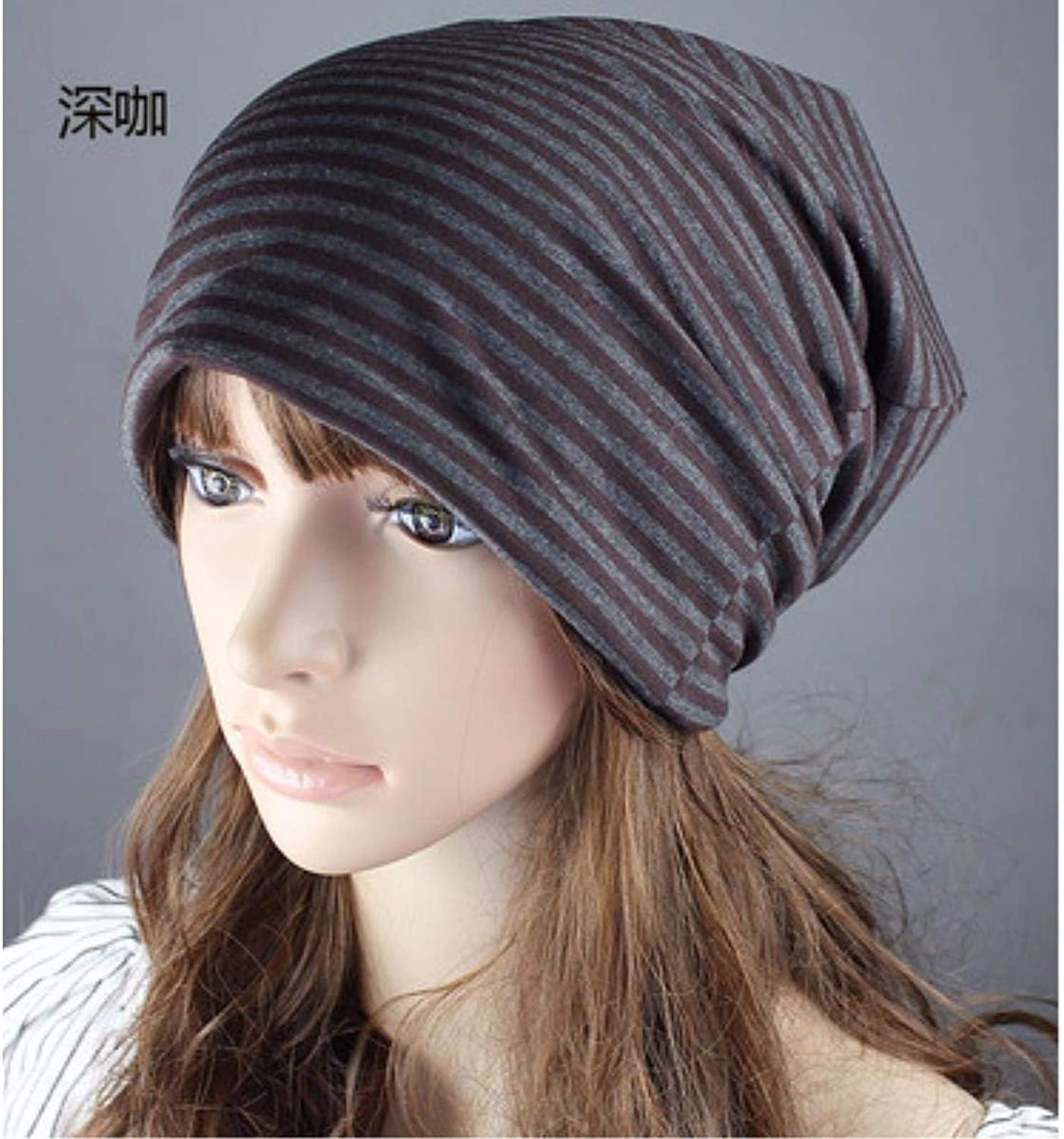 Chuiqingnet Hat the girl four seasons scarf cap storehouse cap stripes street dance sleeve head hat chemotherapy Cap